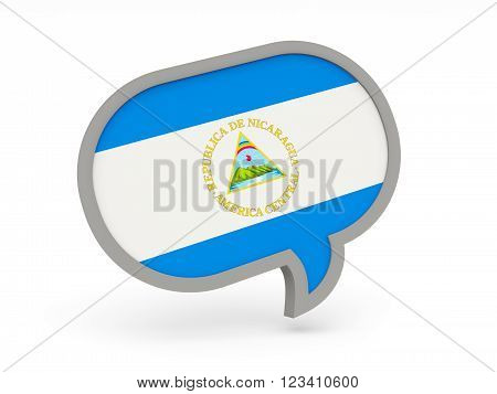 Chat Icon With Flag Of Nicaragua