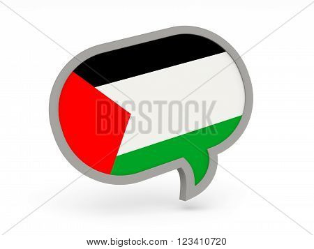 Chat Icon With Flag Of Palestinian Territory