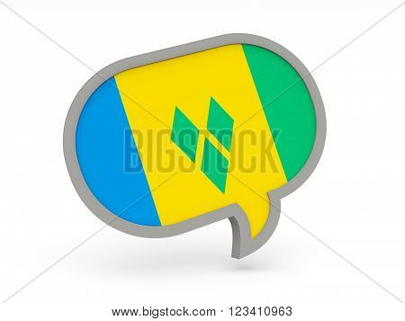 Chat Icon With Flag Of Saint Vincent And The Grenadines