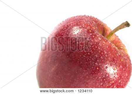 Red Apple On It'S Aide