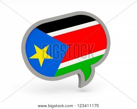 Chat Icon With Flag Of South Sudan