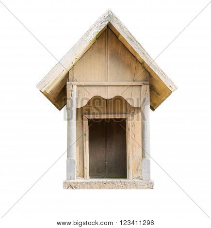 Small Wooden House Isolated On White.