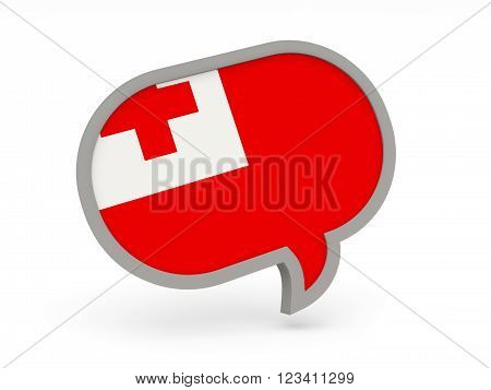 Chat Icon With Flag Of Tonga