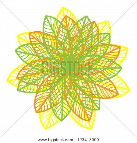 Bright Floral Cute Vector