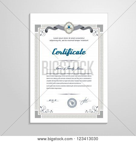 Certificate, Diploma - design template. A vector.