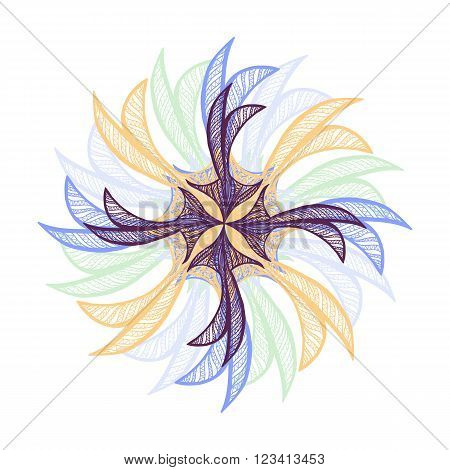 Cute Abstract Vector Flower
