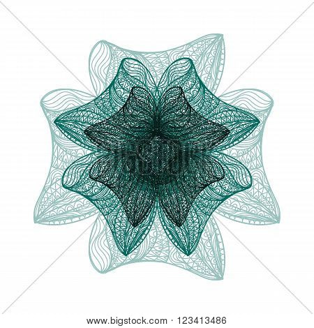 Dark Green Vector Flower
