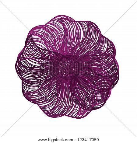 Bright Purple Vector Flower