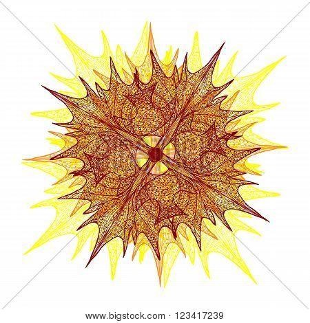 Bright Vector Flower