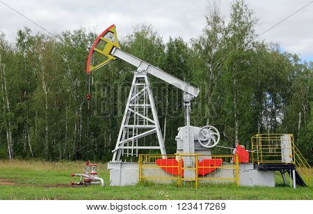 The Oil pumpjack a Oil industry equipment.