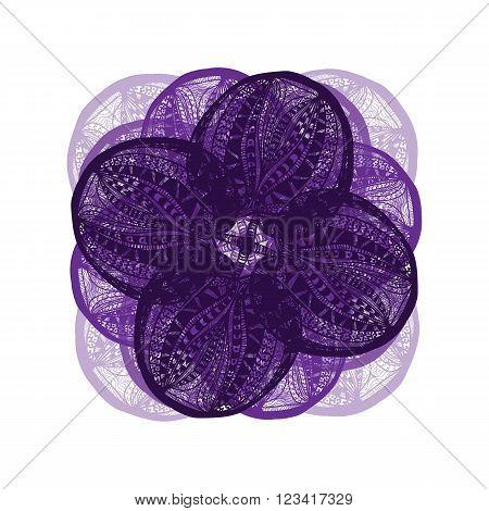Dark Violet Vector Flower