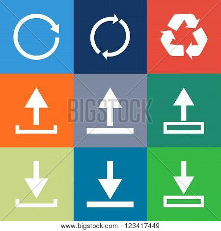 Modern Thin Line Icons Set Of Internet Of Things Icons, Reload, Refresh, Recycle, Download, Upload I