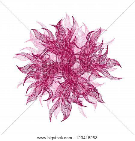 Pink Vector Flower
