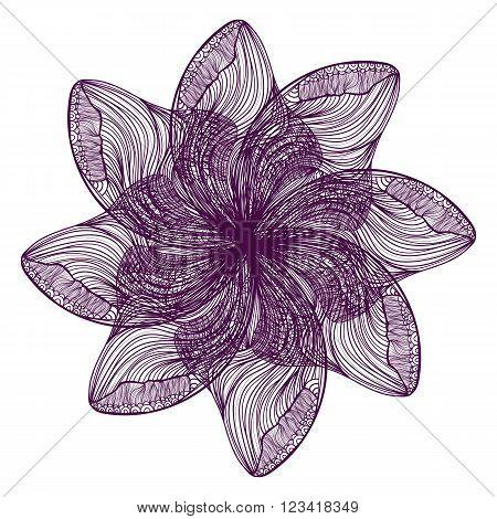 Violet Vector Flower