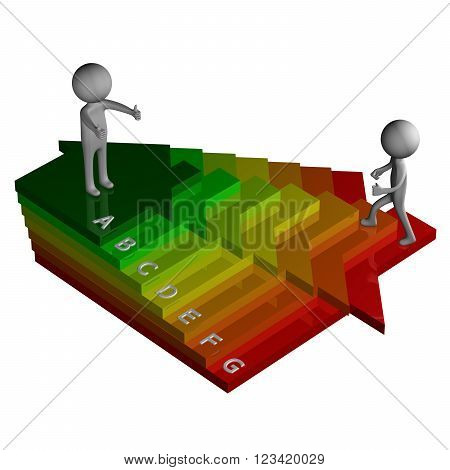 Energy Efficiency isolated on white background. 3D render.