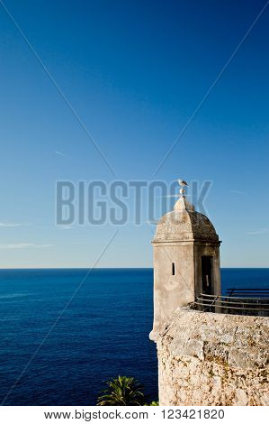 Tower on the waterfront of the Prince's Palace of Monaco Cote d'Azur