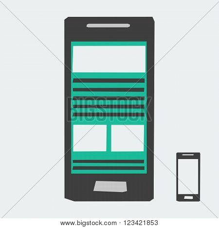 Vector Smartphone Icon. Mobile phone icon. Phone Icon. Flat Mobile Icon