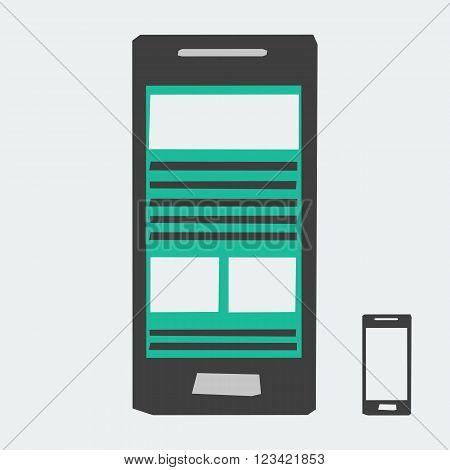 Vector Smartphone Icon. Mobile phone icon. Phone Icon. Flat Mobile Icon