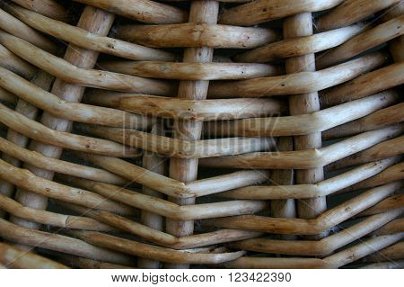 Basket weave texture background pattern close up