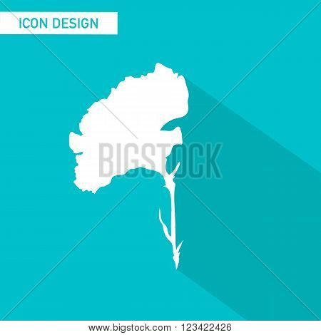 Flower flat icon vector design. vector illustration