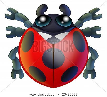 Cartoon Lady Bird Or Bug