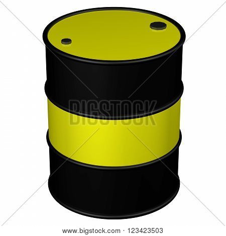 Barrel, isolated on white background.  3D render.
