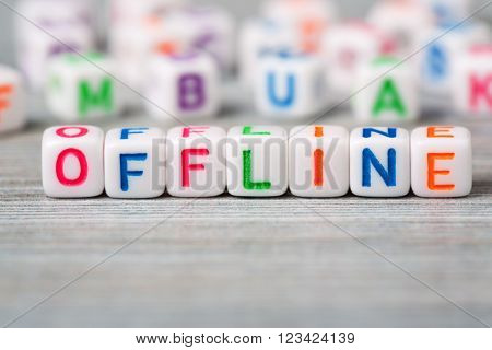 Offline word macro on the wood background