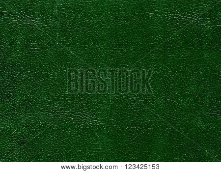 Dark Green Leather Surface.