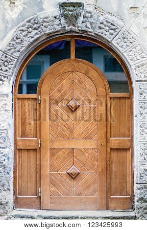 Old Wooden Door, The City Of Lviv.