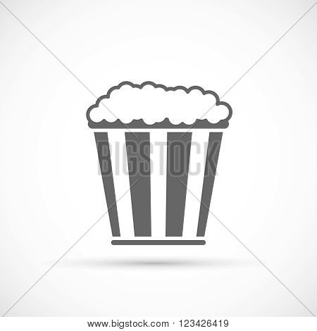 Pop corn icon. Cinema icon in flat design style. Vector illustration