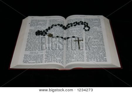 Bible With Rosary.