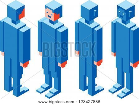 Simple 3D Vector Boxed Character