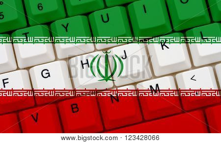 Restricted Internet access in Iran The Iranian flag on a computer keyboard