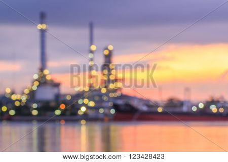 Blurred Oil Refinery