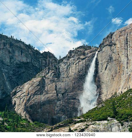 Waterfalls in Yosemite National Park in California