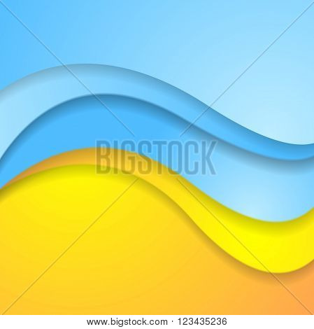 Bright abstract contrast corporate wavy background. Vector illustration