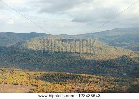 Hills Of Primorsky Krai Seen From The Plane Near  Vladivostok