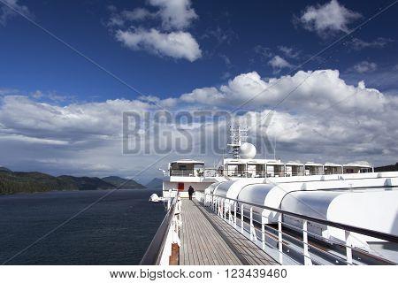 The cruise liner cruising through British Columbia (Canada).