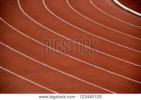 Athletics Stadium Running track curve in Sport Stadium