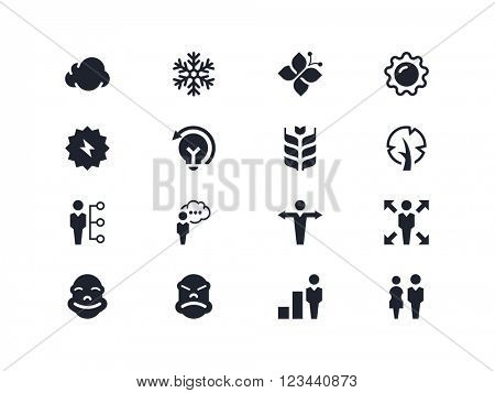 Environmental and people icons. Lyra series
