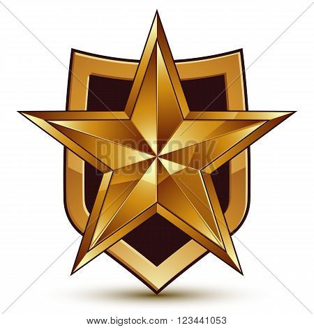 Branded Golden Geometric Symbol, Stylized Golden Star, Best For Use In Web And Graphic Design, Corpo