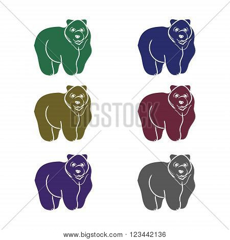 Animal pattern on a white background different shortcuts and symbols. Vector illustration