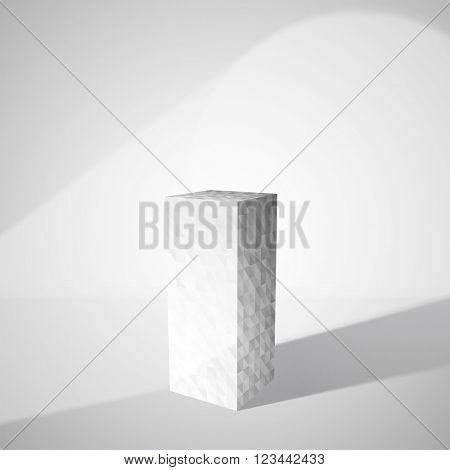 Empty pedestal with spot light for presentation of product. Vector eps10 format.