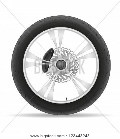 motorcycle wheel tire from the disk vector illustration isolated on white background