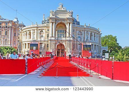 ODESSA, UKRAINE -JULY 21, 2012: Closing ceremony of Odessa International Film Festival in Odessa, Ukraine