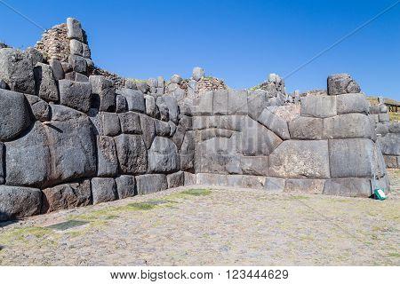 Stone Walls At Saksaywaman, Saqsaywaman, Sasawaman, Saksawaman, Sacsahuayman, Sasaywaman Or Saksaq W