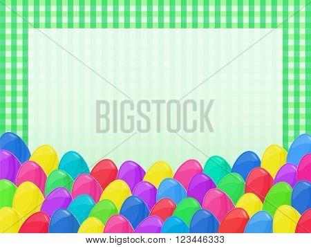 Easter Eggs Frame Cartoon Style Napkin Colorful 3