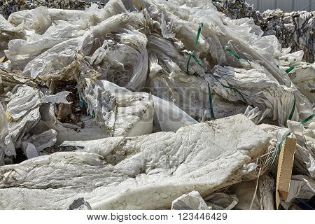 Industrial plastic waste bulk refuse for recycling