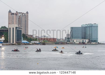 Water Scooters Also Known As Water Jet Ski In Vladivostok,  Russia
