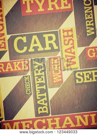 Grunge autoservice background